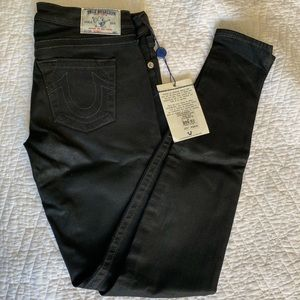 New NEVER used! True Religion Jeans Black Coated